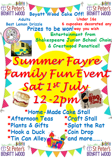 Summer Fayre July 1st 2017